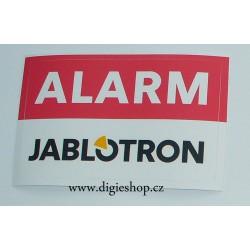 Výstražná samolepka Jablotron 80x50